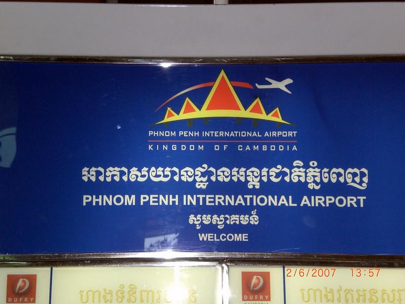 Leaving Phnom Penh International Airport to head to Myanmar.