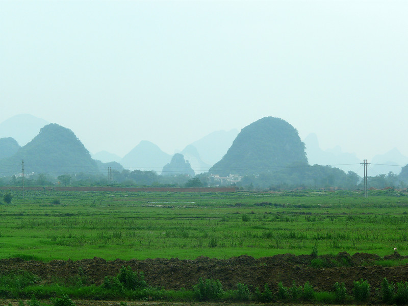 Thursday, May 13, 2010.   En route from Airport into Guilin.