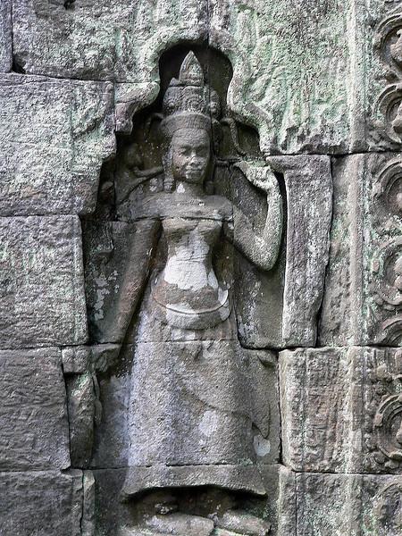 Devata in niche at Ta Prohm Temple.