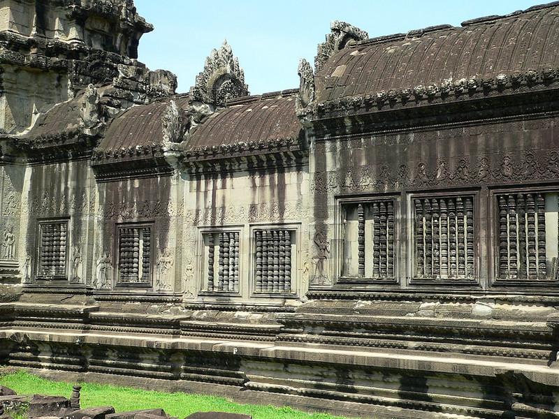 Inside Angkor Wat.