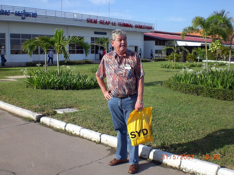 GA arriving at Siem Reap Domestic Terminal.