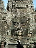 Close up of face at the South Gate of Angkor Thom.