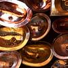 The Souk Marrakech - copper basins.
