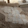 Marble tile fragments near the Byzantine Church of St. John the Baptist.