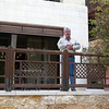 Greg on the balcony outside our room at the Marriot Jordan Valley Dead Sea Resort & Spa - Room # 251.