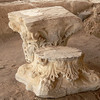 Two capitals from a column or columns from one of the old churches at the Baptism Site.
