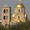 A modern Orthodox Church of St John the Baptist glistens in the morning sun.