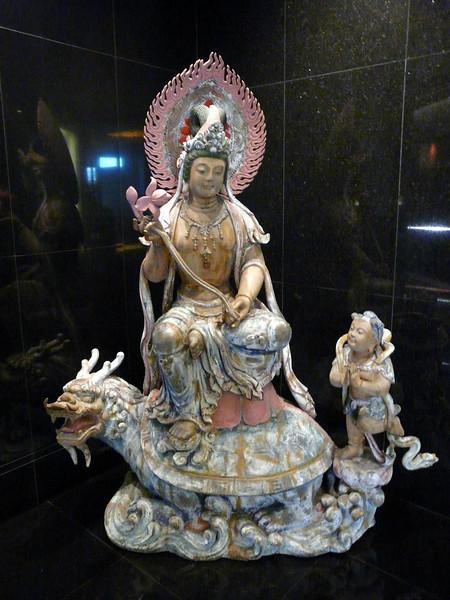 Statue in Oriental Hotel, Singapore.