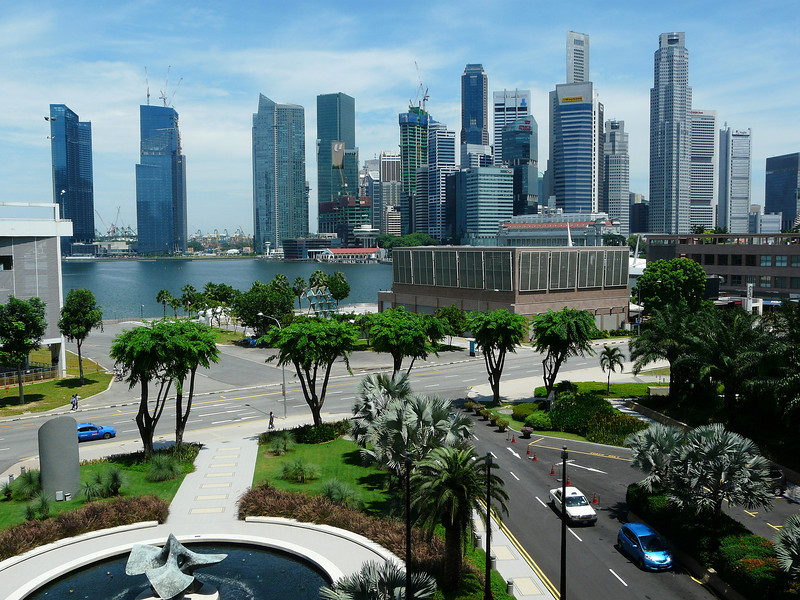 View from Oriental Hotel, Singapore.