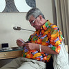 Greg in Room 1706 of Marina Mandarin Hotel, Singapore.