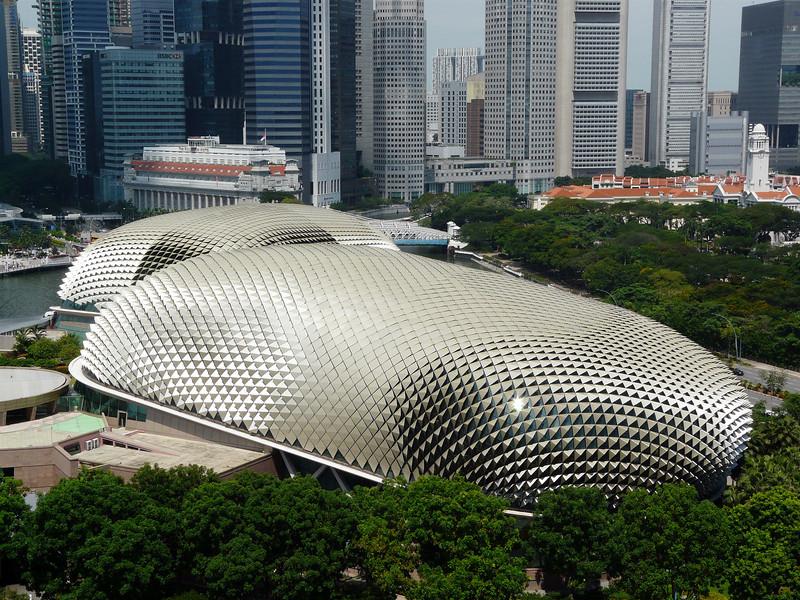 Sunday, May 23, 2010 - View from Room 1706 at Marina Mandarin, Singapore.