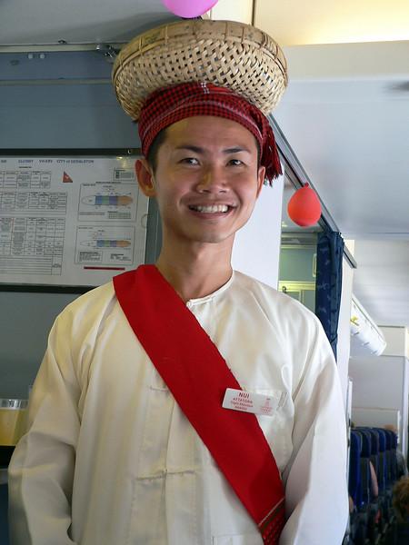 Nui on the Mandalay to Hanoi sector on our Qantas Charter - Flight QF 6034.