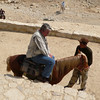 Greg took a horse for part of the descent into Petra.