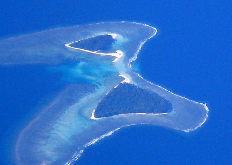 Butterfly Island - not far from Japan.  The Japanese believe if you see this island, you will be blessed.