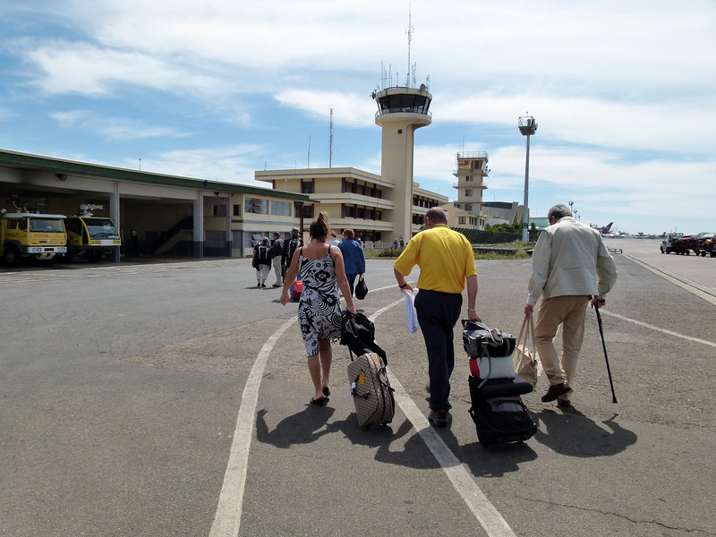 Saturday 13 November 2010 - arrival at Antananarivo International Airport.  It was quite a hike from the aircraft park site to the terminal.