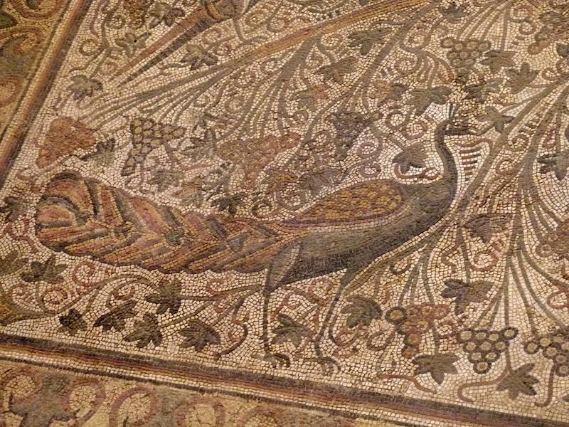 "Detail of the mosaic ""carpet""."