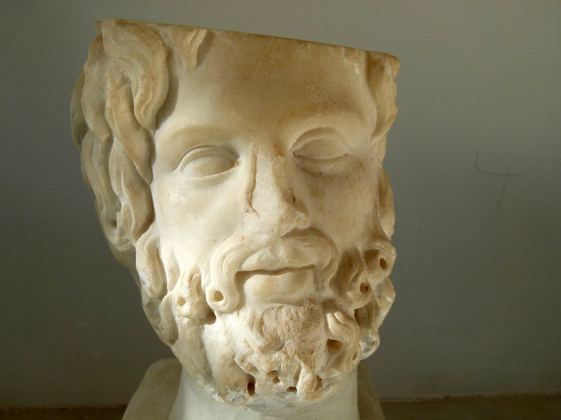 Sculpture in the Sabratha Museum.