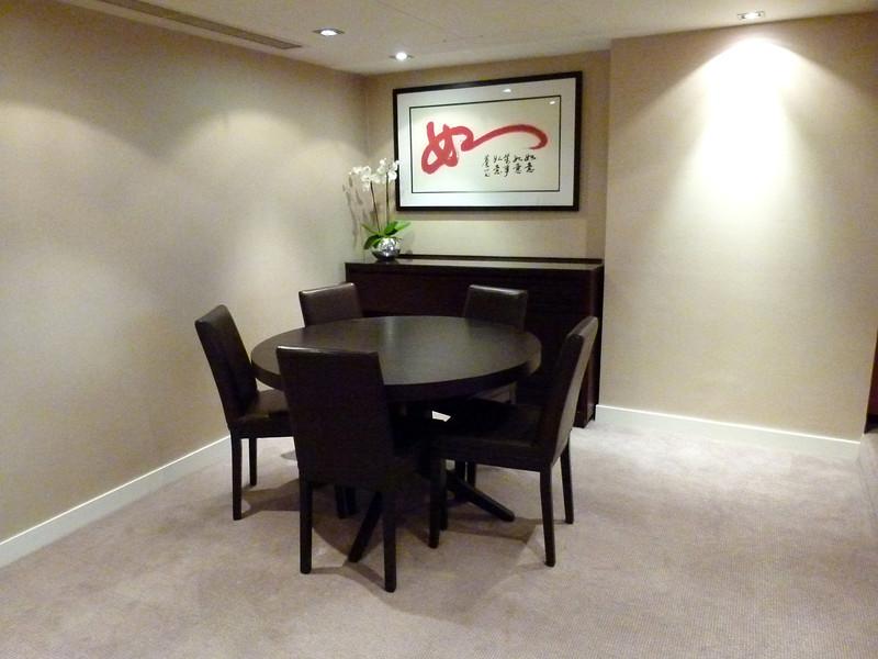 Dining Room - Suite 936, Royal Garden Court Hotel, Kensington.