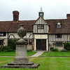 The timber in the cottages at Ightham Mote shown here date them to about 1476.   The dovecote was added more than a century later and was used as an important source of food for the house, like the fish in the lakes and the moat.