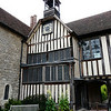 Clock in the courtyard of Ightham Mote.