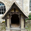 Ightham Mote - front view of Dido's kennel.