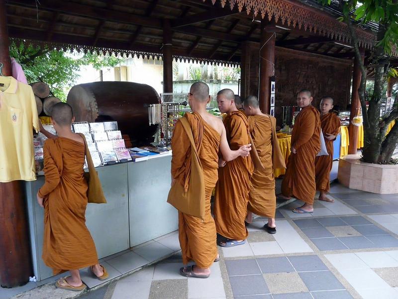 Monks at Wat Phra That Doi Suthep Temple complex.