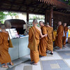 Monks at Wat Phra That Doi Suthep Temple complex.