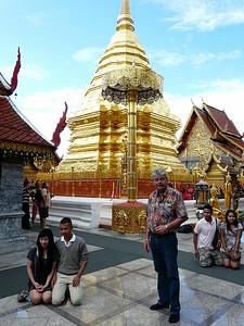 GA at Wat Phra That Doi Suthep Temple complex.