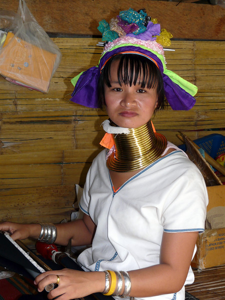 """Baan Tong Luang Village, Chiang Mai.  The women and children of the Karen """"Long Neck"""" (or """"Padong"""") tribe are simply beautiful.   The blokes weren't bad either!"""