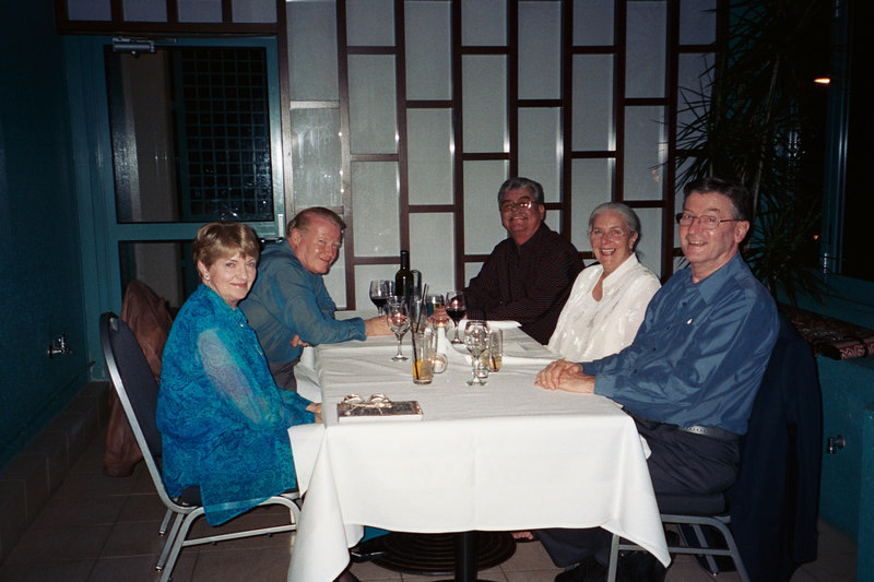 CTC Reunion held in Sydney in 2004:   Left to Right: Maxine, Robert, GA, SP & Bruce.