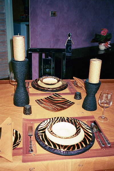 """Dinner service purchased in Cape Town at the start of our CTC 2003 trip.   This was shipped home direct from CTC so we didn't have to """"lug"""" it around with us on the trip.   The freight was almost as expensive as the dinner service!!"""