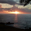 Sunset at Iorana Hotel, Easter Island.