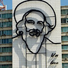 A new addition to Plaza de la Revolution since 2006 - a huge portrait of Fidel, which to my way of thinking doesn't look like Fidel Castro at all.   What do you think?