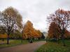Autumnal colours of the Kensington Gardens.