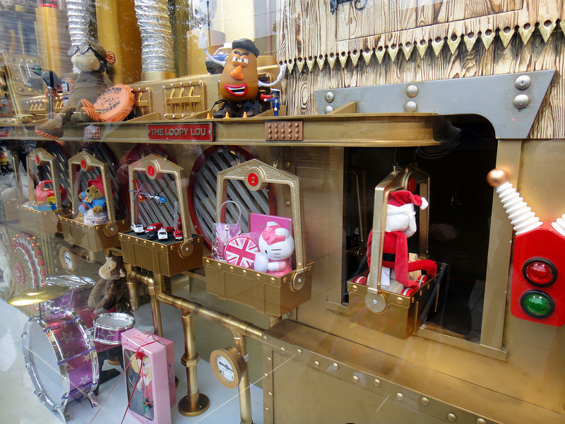 Toy window display in Oxford Street.