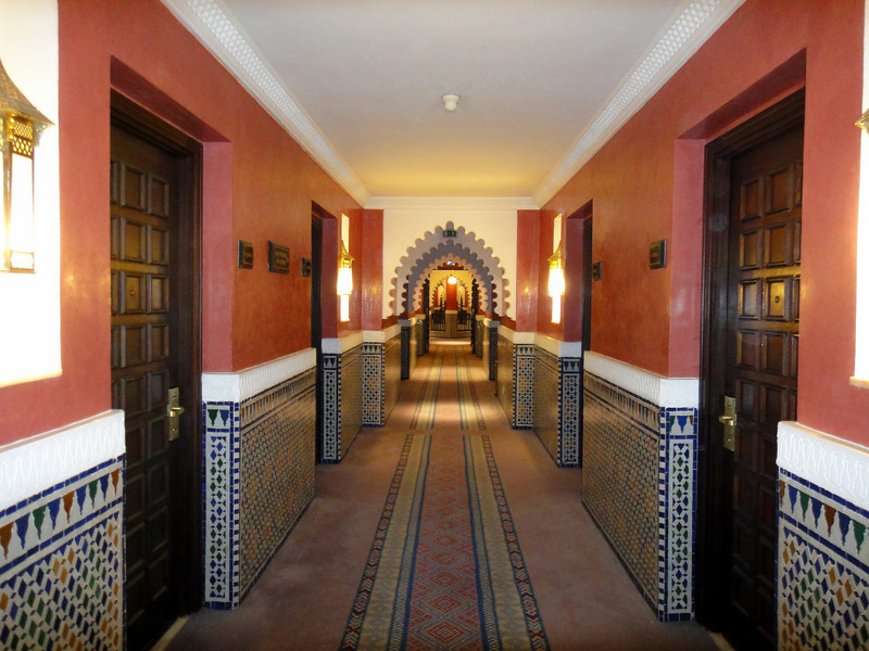 Corridor at  Palmeraie Golf Palace, Marrakech.