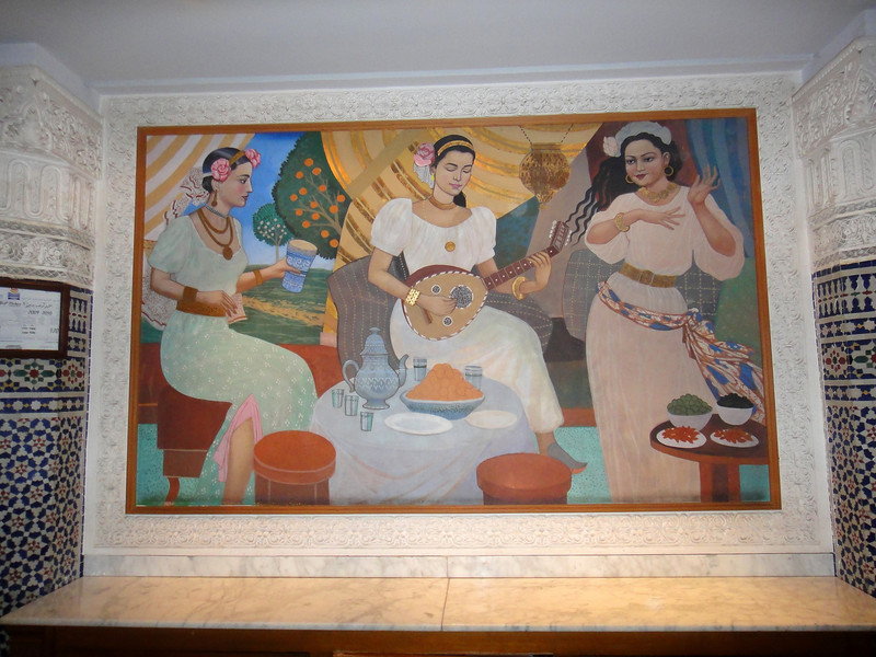 Painting in foyer at Palmeraie Golf Palace, Marrakech.