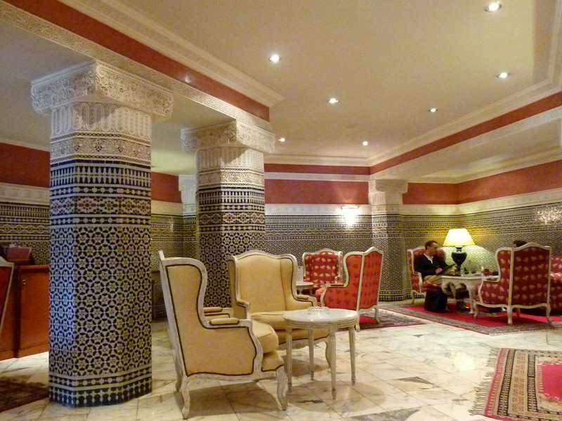 Foyer lounge at the Palmeraie Golf Palace, Marrakech.