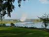 "Victoria Falls from Royal Livingstone Hotel, Zambia.   ""The Smoke that Thunders""."