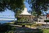 The gazebo in the Riverfront Park in Owensboro, Ky.