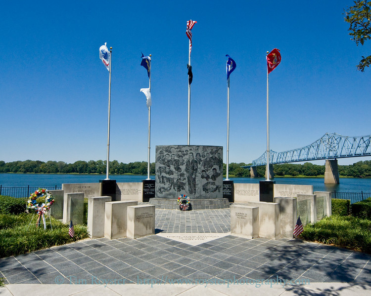 Colonel Charles E. Shelton freedom memorial at the Owensboro, Ky. Riverpark Plaza.