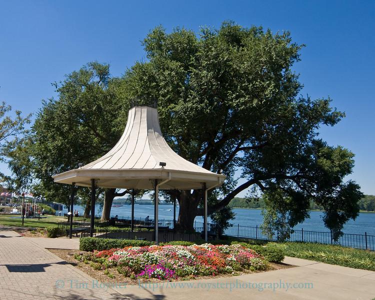 The gazebo at the Owensboro, Ky. Riverpark Plaza.