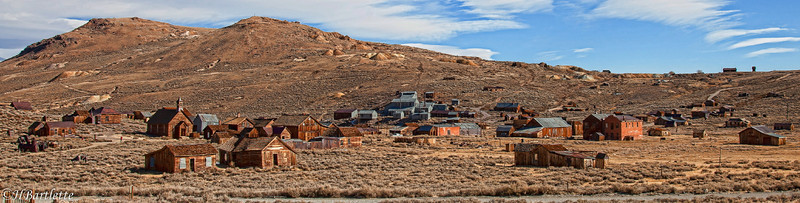 View of Bodie from the graveyard