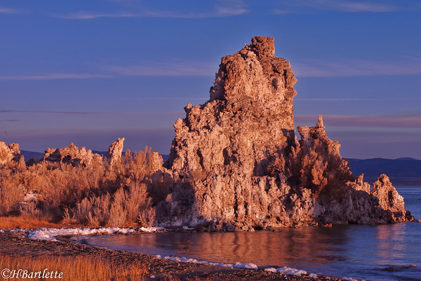 Sunrise colors are gone in 3 minutes. Mono Lake