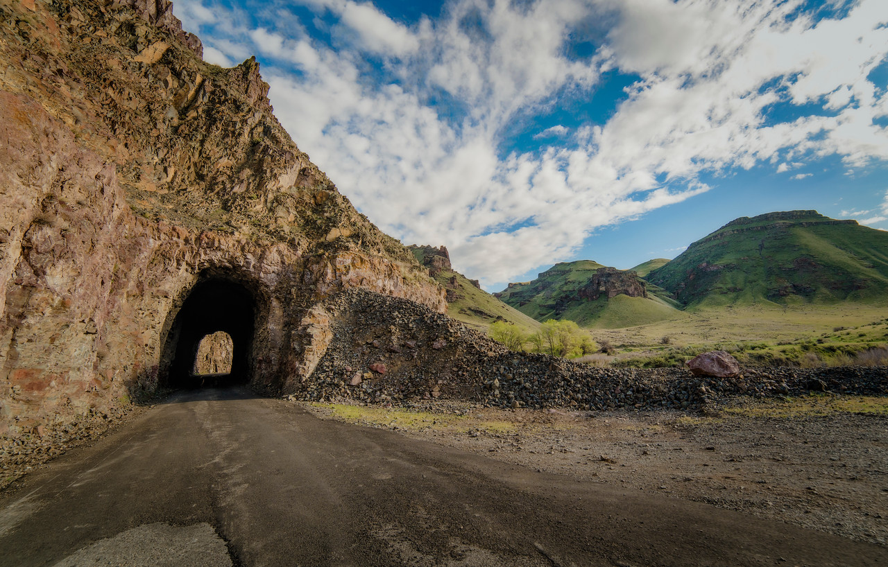 An old rugged tunnel.