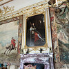 The Second State Room.  If you think the portrait above the fireplace looks like Louis XIV, you are correct.  Marlborough actually served under Louis as a young man, in the Royal English Regiment of the French Army., first as a captain and later as a colonel.  But when the War of Spanish Succession began, Marlborough and Louis were on opposing sides.  Perhaps his display of Louis' portrait is a kind of gloating over his victory.