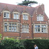A typical North Oxford house, a large brick mansion built in the 19th century--when everybody had plenty of servants.  The area started to get built up after Oxford (finally) allowed its dons (faculty) to marry and live somewhere other than in college.  Today these houses sell for £1.5 million, £2 million pounds or more.