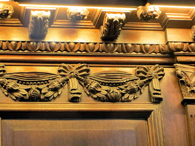 Some of the beautiful woodwork in the chapel.