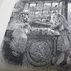 "I walked down St. Aldate's to Alice's Shop.  This is a Tenniel illustration from ""Through the Looking Glass.""  Alice goes into a yarn shop and finds a large sheep behind the counter.  He based his drawing on a real shop on St. Aldate's St. across from Christ Church College.  Today that shop sells all kinds of ""Alice"" memorabilia.  The only difference is that Tenniel reversed the shop; in real life the window is to the right of the door."