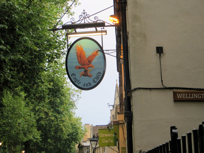 """The Eagle and Child pub--called by locals """"The Bird and Baby.""""  I had dinner there one night with some other people from the tour group."""